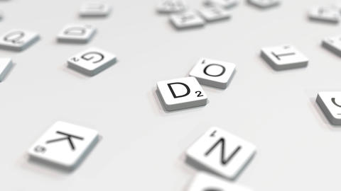 Composing DESIGN word with scrabble letters. Editorial 3D animation ライブ動画