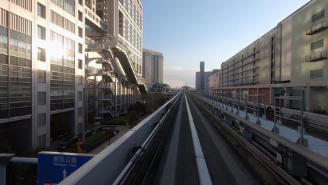 Traveling image of city traffic. Tokyo, near Odaiba ビデオ
