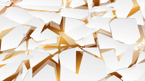 Abstract geometry hi-tech polygonal video animation Stock Video Footage