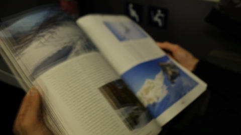 woman reads in the Austrian train a magazine ライブ動画