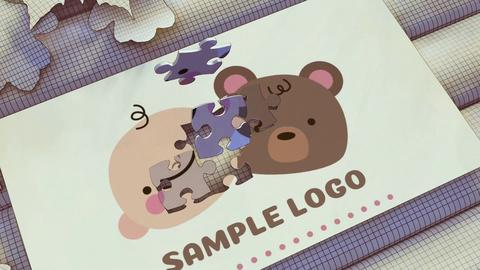 Cartoon Puzzle Logo After Effects Template