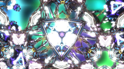 Colourful Psychedelic Kaleida Stock Video Footage
