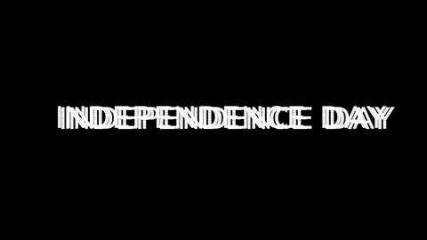 From the Glitch effect arises celebration INDEPENDENCE... Stock Video Footage