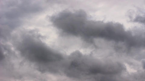 Timelapse beautiful nature overcast clouds stormy weather. Meteorology windy Live Action
