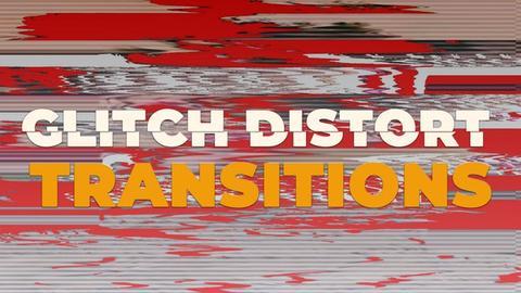 Glitch Distort Transitions Premiere Pro Template