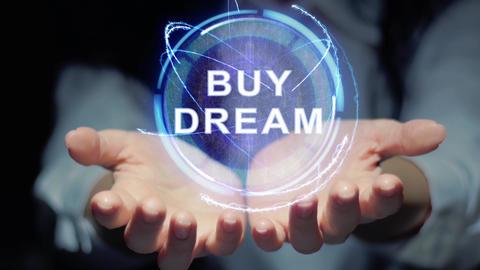 Hands show round hologram Buy dream Footage