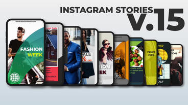 Instagram Stories v 15 After Effects Template