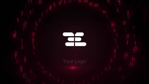Digital Code Logo Reveal After Effects Template