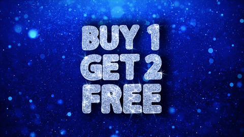 Buy 1 Get 2 Free Blue Text Wishes Particles Greetings, Invitation, Celebration Footage