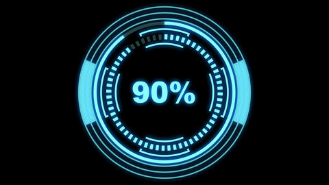 Loading and pending screen futuristic - HUD elements and percentage counter, pending part is Animation