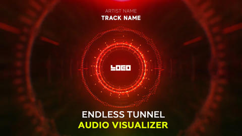 Audio React - Endless Circle Tunnel After Effects Template