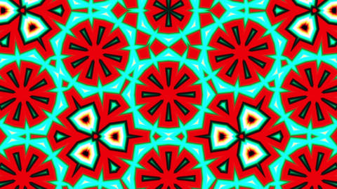 Pattern Explosions Kaleidoscope Colored Seamless Loop Background Animation