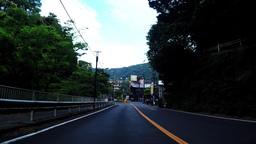 Hakone Yumoto spa town, the entrance./箱根湯元温泉街、入口付近の車 Footage