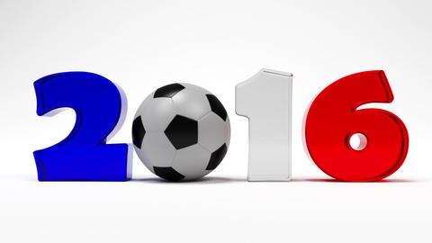 Cartoon Digits And Soccer Ball Assemble In Logo Of Euro 2016 France Football Cha Animation