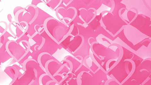 Animated Background With Hearts CG動画