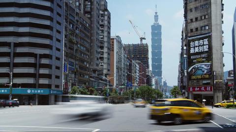 Taipei downtown city streets 101 building timelapse taiwan Footage