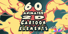 2d Cartoon FX Pack 60 Different Elements Motion & Final Cut X stock footage
