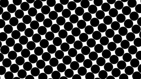 Big black polka dots - simple retro pattern for creative, 3d render, black polka Live Action