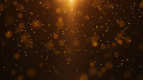 Gold Particle Looped Background 08 Animation