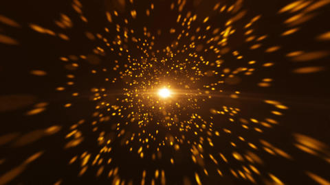 Gold Particle Looped Background 07 Animation