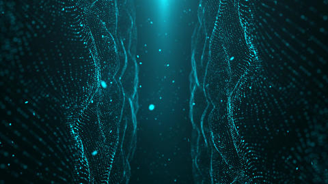 Blue Particle Looped Background 11 Animation