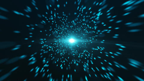 Blue Particle Looped Background 08 GIF