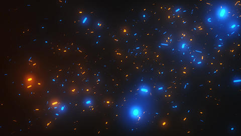 Cinematic Particles Orange Blue Background 2 Animation
