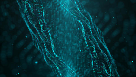 Blue Particle Looped Background 07 Animation