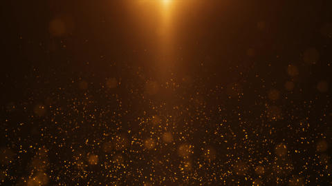 Gold Particle Looped Background 04 Animation