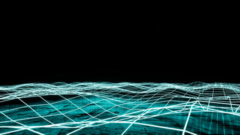 Big data and information flowing through cyberspace Footage
