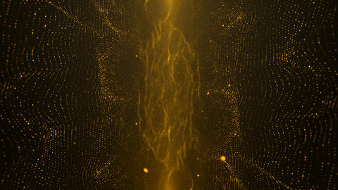 Gold Particle Looped Background 14 Animation