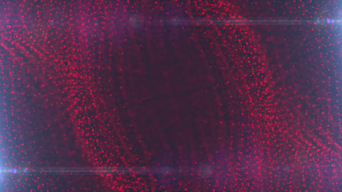Abstract Red Particle Looped Background 09 Animation