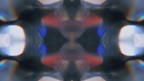 Kaleidoscope vintage futuristic trendy holographic background Footage