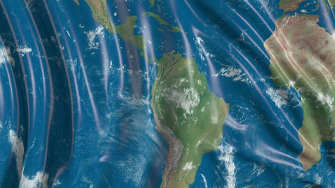 Flag with the texture of the planet Earth Videos animados