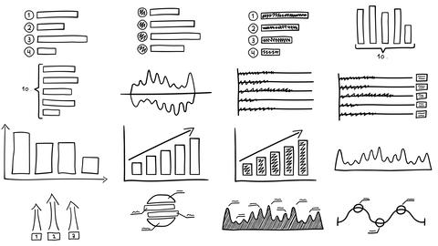 Black drawn infographics GIF