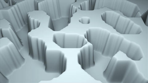 Simple terrain modern 3d surface model, 3d rendering, computer generating Live Action