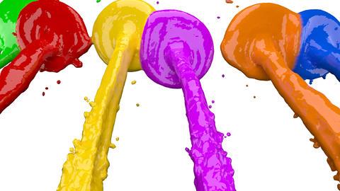 Colorful Paints Splashing Wall Animation