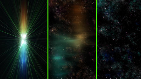 Journey in deep space concept, 3 different VERTICAL... Stock Video Footage