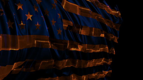 American flag made in cyber style in slow motion Videos animados