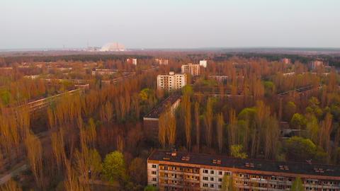 Ghost town Pripyat near Chernobyl NPP, Ukraine Archivo