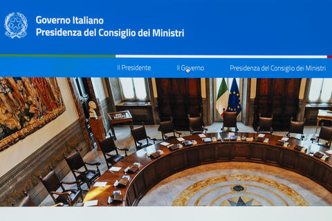 Italian government web page Photo