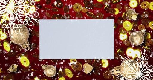 Christmas seamless loopable background with, snowflakes. and copy space Animation