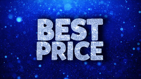 Best Price Blue Text Wishes Particles Greetings, Invitation, Celebration Footage