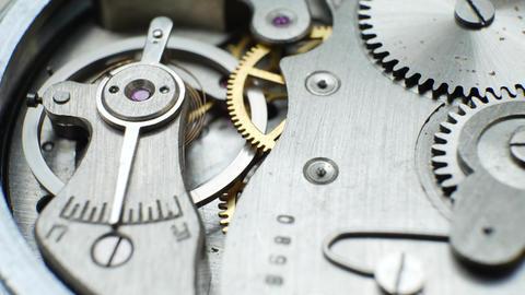 Old Clock Mechanism Works Live Action