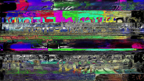 Distortion Background Digital Glitch Present Animation