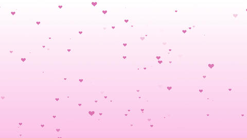 Raining hearts background with purple, red color Animation