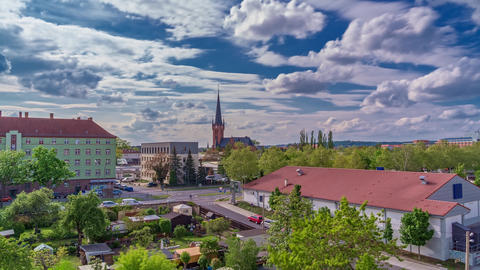 Urban City Timelapse Dresden Germany 4K Footage