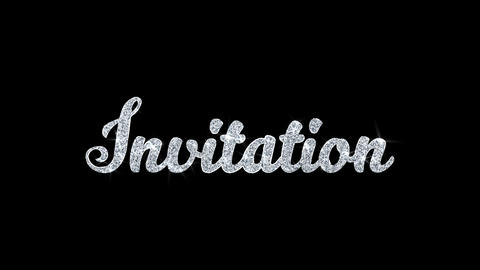 Invitation Blinking Text Blinking Text Wishes Particles... Stock Video Footage