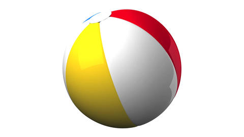 Beach ball on white background, Stock Animation