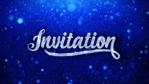 Invitation Blue Text Wishes Particles Greetings, Invitation, Celebration Live Action